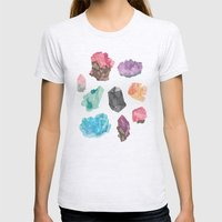 Raw Gems Womens Fitted Tee Ash Grey SMALL