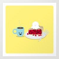 Coffee And Pie Art Print