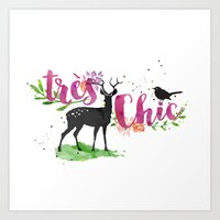 Tres Chic Art Print