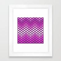 Dot Chevron: Pink Plum Framed Art Print