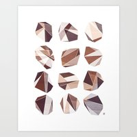 Soft Rock Art Print
