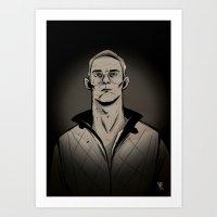 Ryan by night Art Print