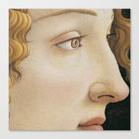 Botticelli c 1480 Portrait of Simonetta Vespucci detail Canvas Print