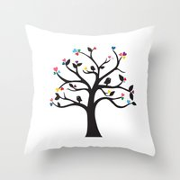 Love Blossoms Throw Pillow
