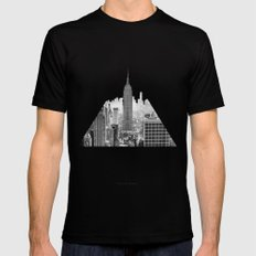 New York City SMALL Mens Fitted Tee Black