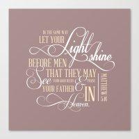 Matthew 5:16  Canvas Print