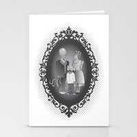 Framed family portrait Stationery Cards