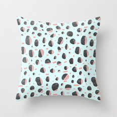 Stones and Lines I Throw Pillow