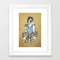Through the Jewel Case Framed Art Print
