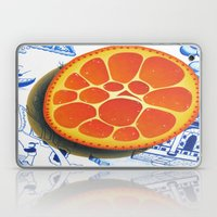 Orange on plate made where they speak Mandarin Laptop & iPad Skin