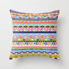 Summer Doodle Throw Pillow
