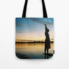 Female Body in the Amazon River Tote Bag