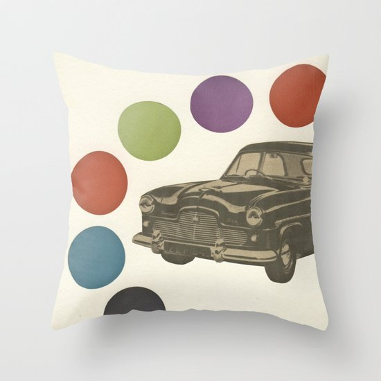 Driving Around in Circles Throw Pillow