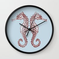 Seahorses Wall Clock