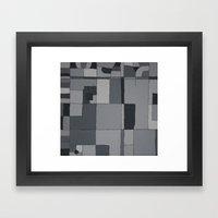 Grey Map  Framed Art Print