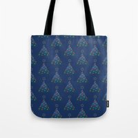 Christmas Trees Pattern Tote Bag