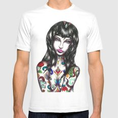 Mara SMALL White Mens Fitted Tee