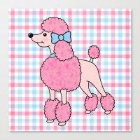 Pink Poodle Canvas Print