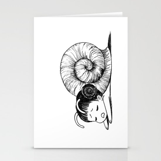 Snail girl Stationery Card