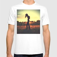 Walker On The Plains Mens Fitted Tee White SMALL