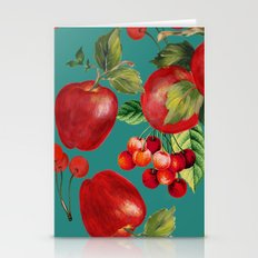 cherries and apples Stationery Cards