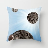 Lace Bubbles Throw Pillow