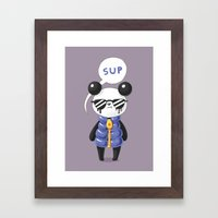 Sup Panda Framed Art Print