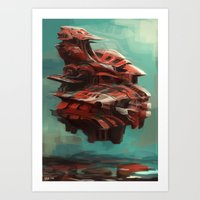 Mother ship  Art Print