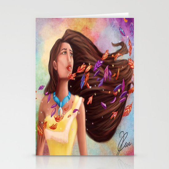 Colors of the Wind Stationery Card