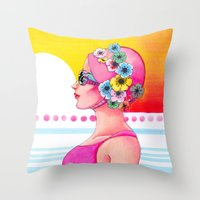 Synchronized Throw Pillow