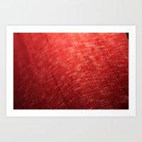 Red Defraction Art Print