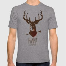 HANNA film tribute poster Mens Fitted Tee Athletic Grey SMALL