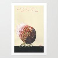 My Brain Goes For A Walk… Art Print