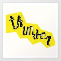 Thunder Font  Art Print