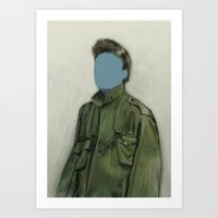 Major Blue Art Print