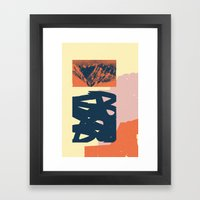 Malvarma Montoj Framed Art Print