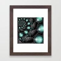 Turquoise Maze. Framed Art Print