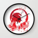 Red Tail Wall Clock