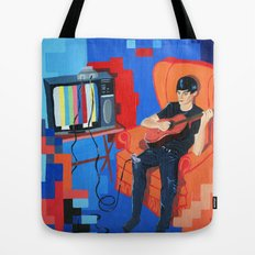 PIXEL BAND Tote Bag