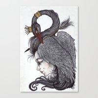 Swan Song Art Print Canvas Print