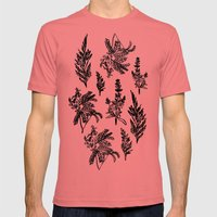 Fleur Noir Mens Fitted Tee Pomegranate SMALL