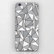iPhone & iPod Skin featuring Abstract Lines With Grey… by Project M