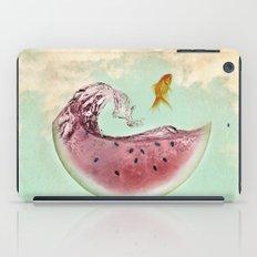 watermelon goldfish 02 iPad Case