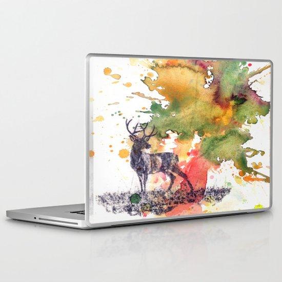 Buck Deer in Splash of Color Laptop & iPad Skin