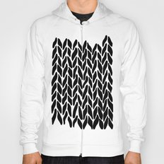 Hand Knitted Black on White Hoody