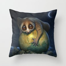 Loris Planet Throw Pillow