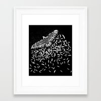 Of a feather Framed Art Print