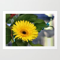 sunshine Art Prints featuring Sunshine  by kealaphotography