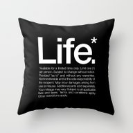 Life.* Available For A L… Throw Pillow