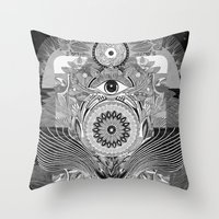The Loud & Silent Throw Pillow
